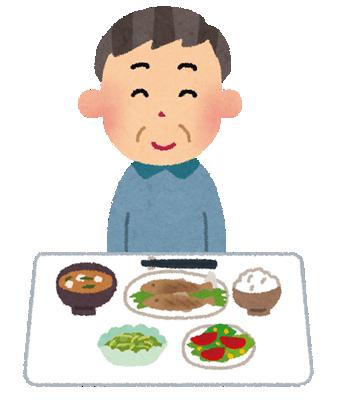 脳梗塞を予防する食事を食べる男性