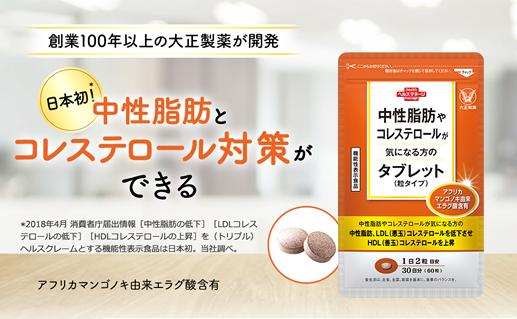 中性脂肪やコレステロールが気になる方のタブレット